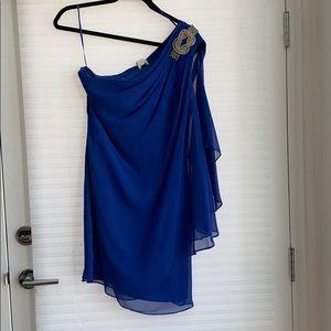 Lined chiffon dress